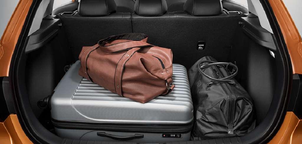 Размер багажника Киа х Лайн: длина, ширина, объем